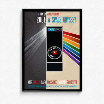 2001 A Space Odyssey Poster Print - No 9000 Computer Has Ever Made A Mistake - Multiple Sizes - 12x18, 24x36 - Alternate Movie Poster