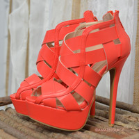 Good Reputation Dark Coral Heels