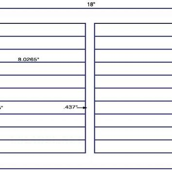 US6030D-1'' x 8.0265''-20 up Label on a 12'' x 18'' label sheet.