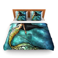 "Mandie Manzano ""Mermaid"" Fleece Duvet Cover"