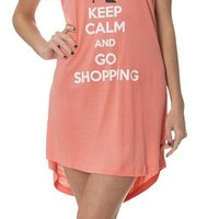 (5370VR) Rampage Womens Keep Calm Super Soft Night Shirt in Mint Size: S