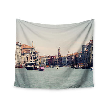 """Sylvia Coomes """"Venice 1"""" Blue Photography Wall Tapestry"""