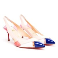 CHRISTIAN LOUBOUTIN | Air Chance Leather Sling-Backs | Browns fashion & designer clothes & clothing