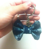 Navy Camo NWU Bow Keychain- Charm Not Included