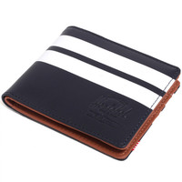 Hank Wallet Peacoat Offset Smooth Leather