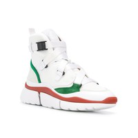 Chloé High Top Sonnie Sneakers - White Leather Sneakers