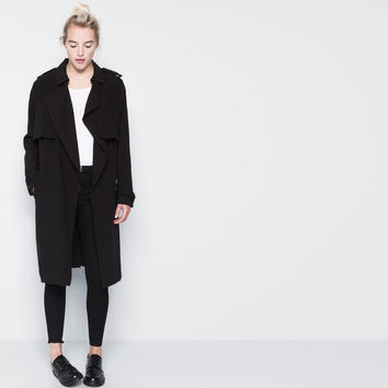 LONG LOOSE-FITTING TRENCH COAT WITH A BELT - NEW PRODUCTS - WOMAN - PULL&BEAR United Kingdom