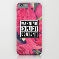 Red Roses Explicit Content iPhone & iPod Case by Hyakume