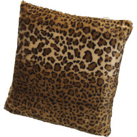 Kashi Home Leopard Animal Polyester Throw Pillow