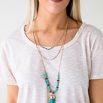 Hilary Layered Horn Necklace