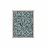 """Maike Thoma """"Layered Circles Design"""" Blue Floral KESS Naturals Canvas (Frame not Included)"""