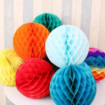 Mix Size Honeycomb Balls Wedding Birthday Party Decorations Kids Baby Shower Favors Event Party Supplies Paper Lanterns