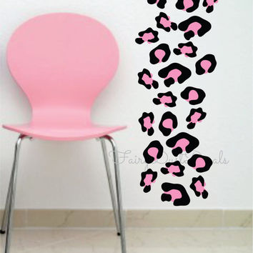 Animal Print wall decals Leopard Spots set - black and pink - 32 spots
