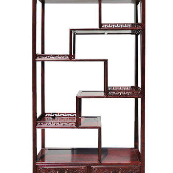 Oriental Rosewood Display Curio Cabinet Divider fs456S