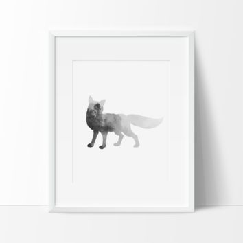 Clever Fox in the Wild, Wall Art, Modern Prints