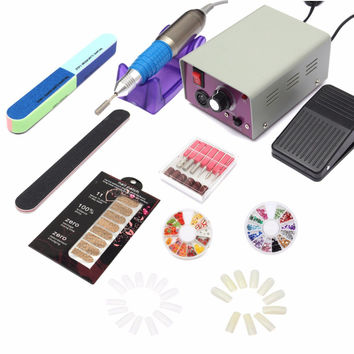 Professional Electric Acrylic Nail Art File Drill Manicure Tool Pedicure Machine Set