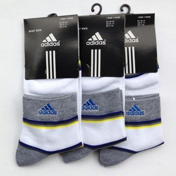LMOFN1 Adidas Men Casual Sport Embroidery Thick Socks Stockings
