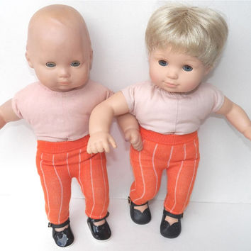 American Girl Bitty Baby Clothes  15 inch Doll Clothes Boy or Girl Orange Leggings or Footless Tights