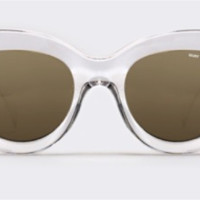 Quay x Shay Mitchell Jinx Clear Sunglasses, Gold Mirror Lens