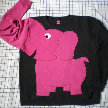 BRIGHTS on Black Elephant Trunk sleeve sweatshirt, sweater, jumper, unisex adult S,M,L,XL