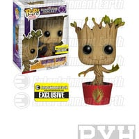 Funko Pop! Marvel: Guardians Of The Galaxy - Dancing Groot - Bobble-Head EE Exclusive