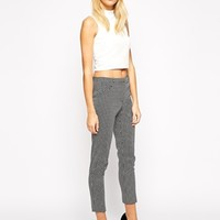 Oasis Mono Jacquard Structured Trouser at asos.com