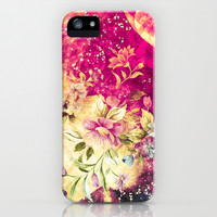 Vintage Flowers XV - for iphone iPhone & iPod Case by Simone Morana Cyla