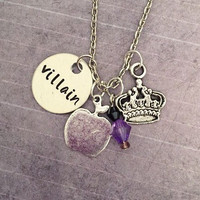 Villain - Evil Queen Necklace - Fairytale Jewelry - Once Upon A Time Jewelry - Villain Jewelry - OUAT ABC Inspired Jewelry