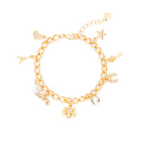 Love in Paris Charm Bracelet
