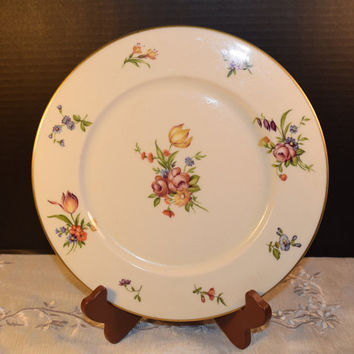 Ancestral Evangeline Dinner Plate Vintage Floral Dinner Plate Gold Trim Ancestral Dinnerware Shabby Chic Dinnerware Replacement China USA