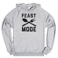 Feast Mode-Unisex Heather Grey Hoodie