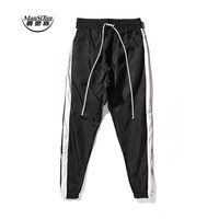 Man Si Tun 2017 New pants hiphop Fashion jogger urban clothing red bottoms FOG jogger justin bieber Fear Of God zipper Pants