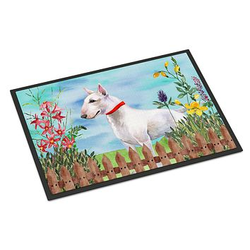 Bull Terrier Spring Indoor or Outdoor Mat 18x27 CK1255MAT