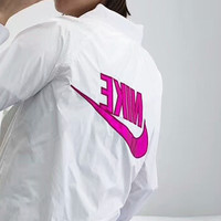 NIKE Windbreaker - Sun protection clothing Back Big Flag Women Men Long Sleeve Coat B-AA-XDD Rose red