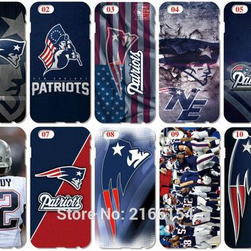 New England Patriots Shell Cover For iphone 10 X 4 4S 5 5S SE 5C 6 6S 7 8 Plus For iPod Touch 5 6 Phone Case Coque Fundas Bumper