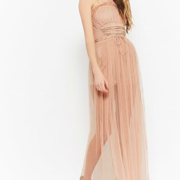 Corset-Waist Cami Maxi Dress