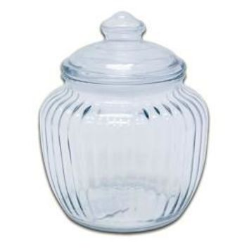 Optic Glass Canister With Lid - 20 Oz - 6ct 101343