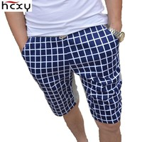 HCXY 2017 new knitted elastic casual floral shorts men summer beauty beach cultivating summer fifth men shorts
