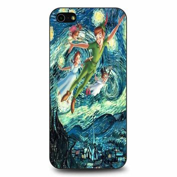 Starry Night With Peter Pan - Van Gogh iPhone 5/5s/SE Case