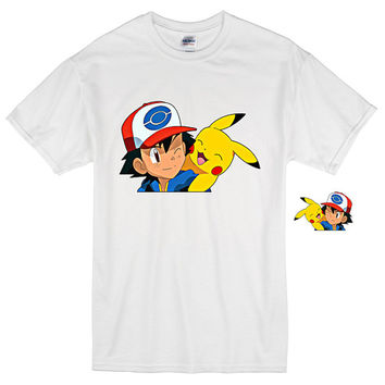 pokemon go,Ash Pikachu Transfer,pokemon,DIY pokemon shirt,pokemongo shirt,pokemon t shirt,pokemon digital,nintendo,pokemon tee,transparent
