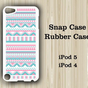 Pink Geometric iPod Touch 5 and iPod Touch 4 Rubber Case or Plastic Case