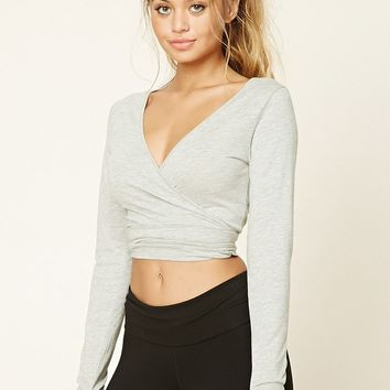 Active Ballet Wrap Crop Top