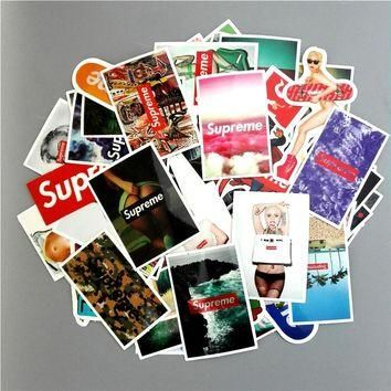 TD ZW 60pcs/lot Supreme Stickers Fashion Brand Sexy High Quality Waterproof PVC For Ca