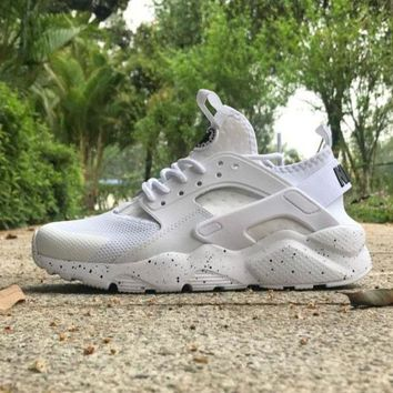 LMFON Best Online Sale Nike Air Huarache 4 Rainbow Ultra Breathe Men Women Hurache White Running Sport Casual Shoes Sneakers - 115