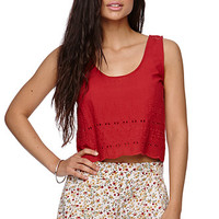 LA Hearts Cropped Scalloped Tank at PacSun.com