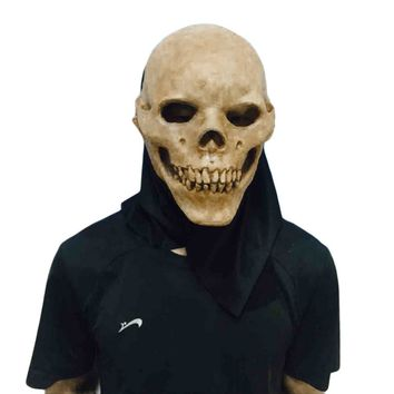 Latex Skull Mask Halloween Masquerade Adult Masks Scary Creepy Party Prop Novelty Theater Mask