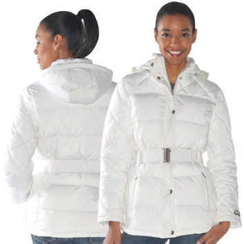 New York Yankees Ladies Icing Full Zip Quilted Jacket - White