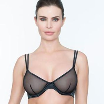 SEXY SHEER DEMI CUP WIRE BRA ADDICTION (ADGL02)