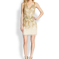 Aidan Mattox - Beaded Deco Dress