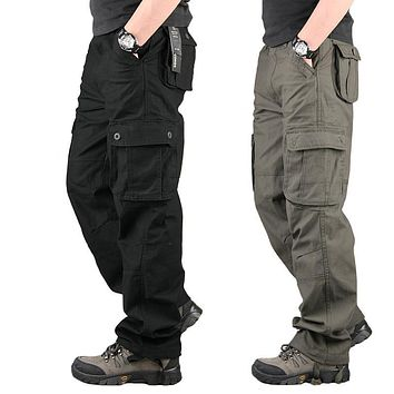 Militar Tactical Cargo Pants Special Forces SWAT Clothes Mens Army Combat Camouflage Overalls Sweatpants Loose Trouser Plus Size
